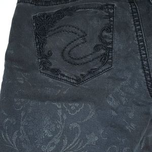 Suki black patterned super skinny jeans waist 34